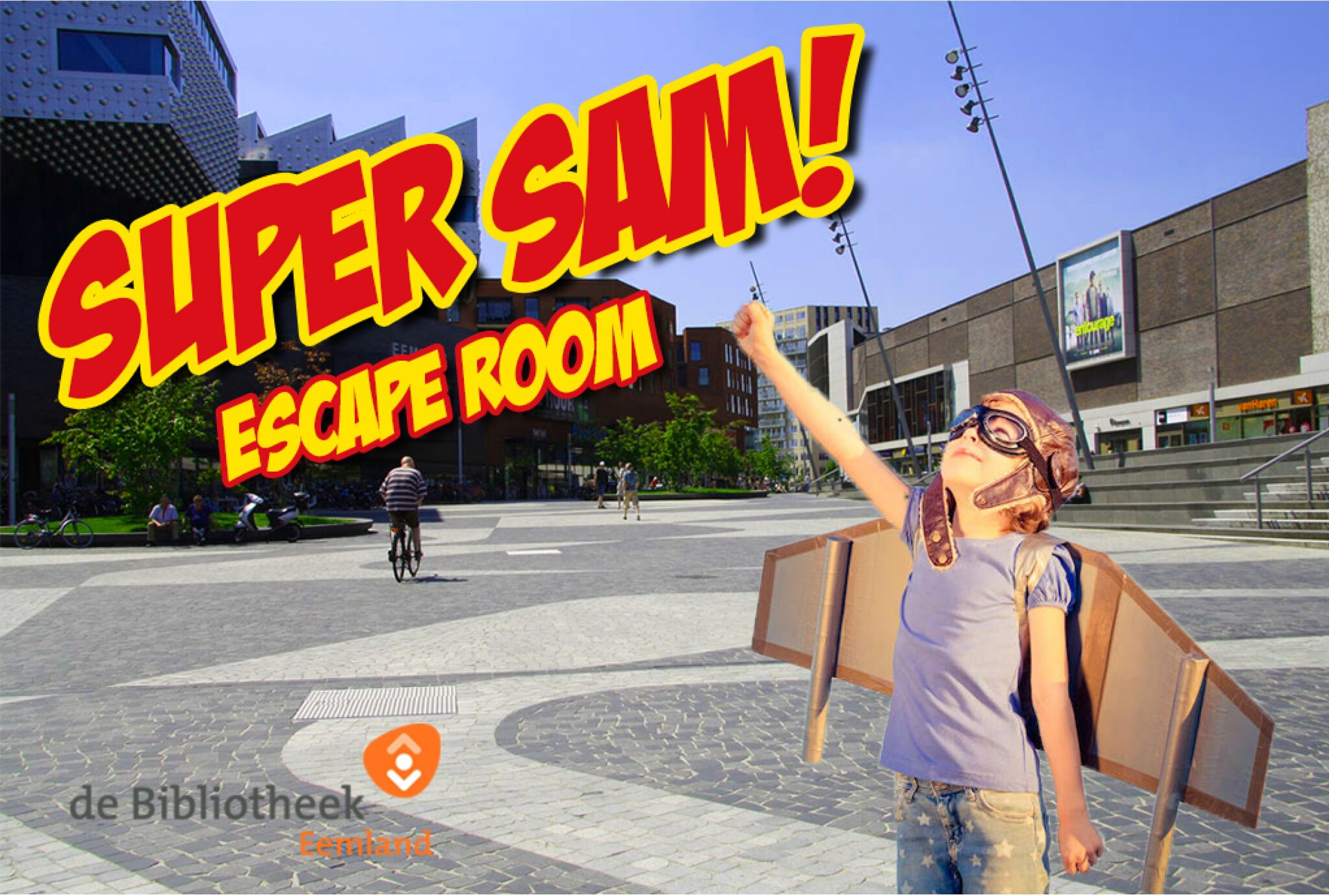 campagnebeeld Super Sam Escape Room